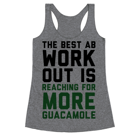 The Best Ab Work Out Racerback Tank Top
