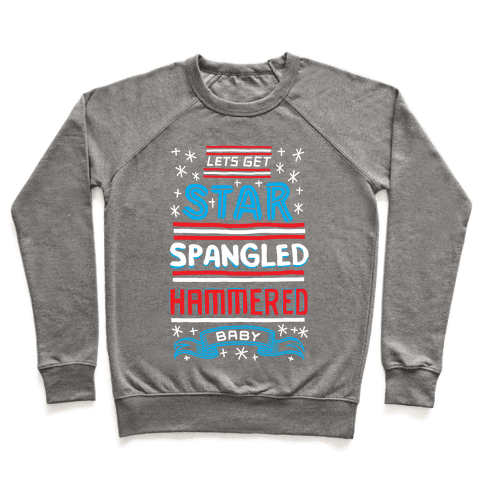 Star Spangled Hammered Pullover