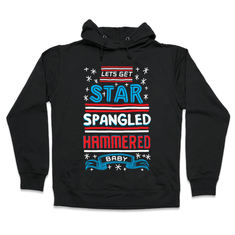 Star Spangled Hammered Hooded Sweatshirt