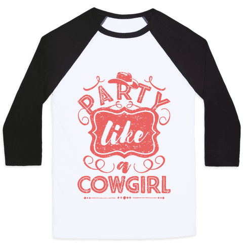 Party Like A Cowgirl Baseball Tee