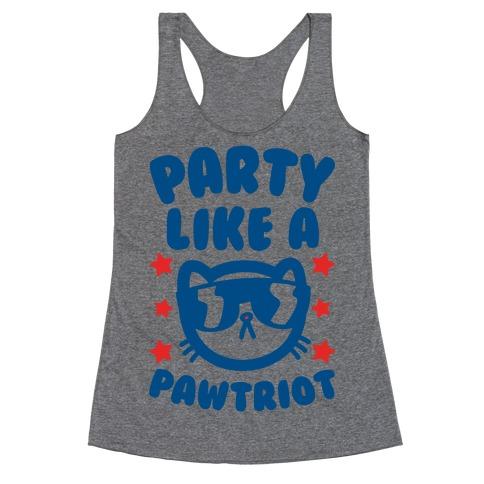 Party Like A Pawtriot Racerback Tank Top