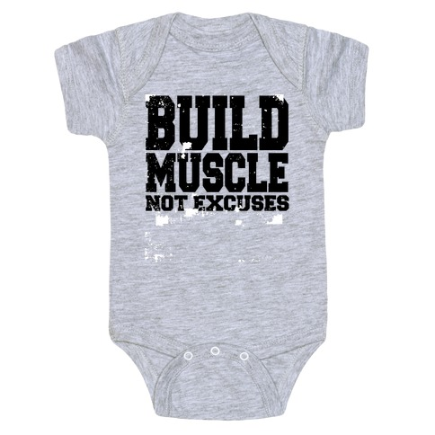 Build Muscle Baby Onesy
