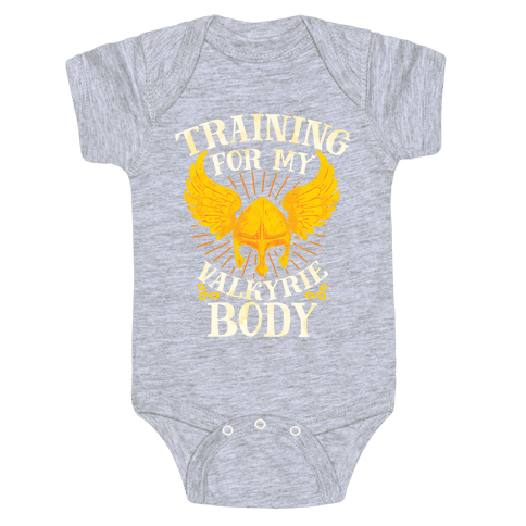 Training for My Valkyrie Body Baby Onesy