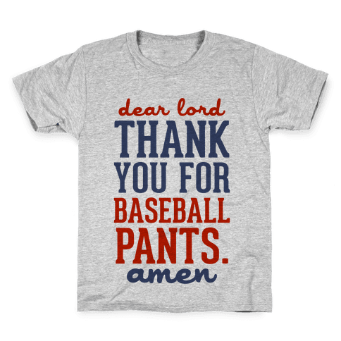 Thank You for Baseball Pants Kids T-Shirt