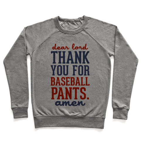 Thank You for Baseball Pants Pullover