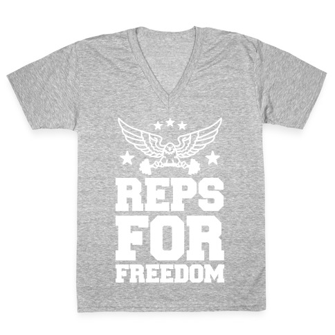 Reps For Freedom V-Neck Tee Shirt