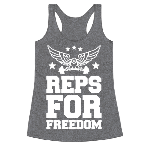 Reps For Freedom Racerback Tank Top
