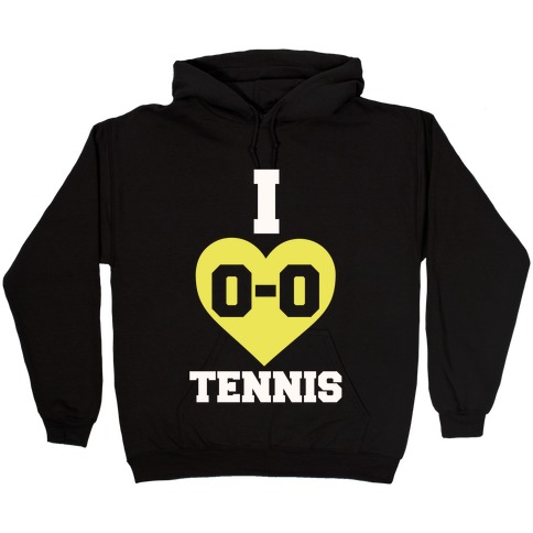 I 0-0 Tennis Hooded Sweatshirt
