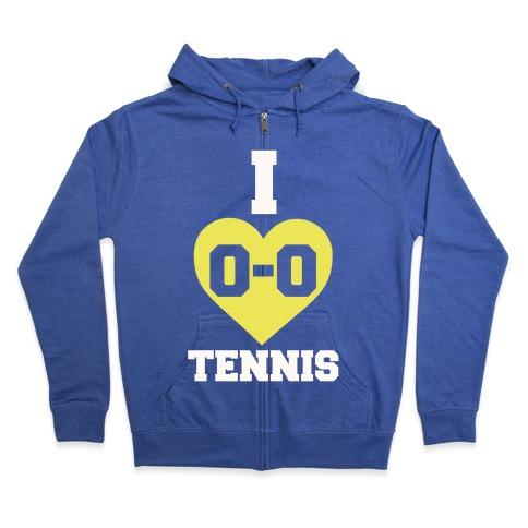 I 0-0 Tennis Zip Hoodie