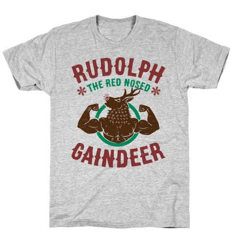 Rudolph The Red Nosed Gaindeer Mens T-Shirt