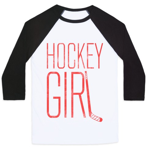 Hockey Girl Baseball Tee