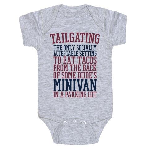 Tailgating Baby Onesy