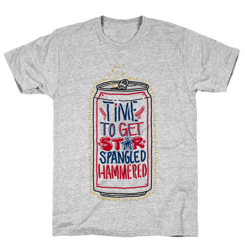 Time To Get Star Spangled Hammered Mens T-Shirt