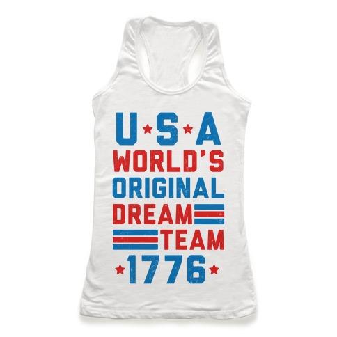 USA World's Original Dream Team 1776 (Patriotic T-Shirt) Racerback Tank |  Merica Made