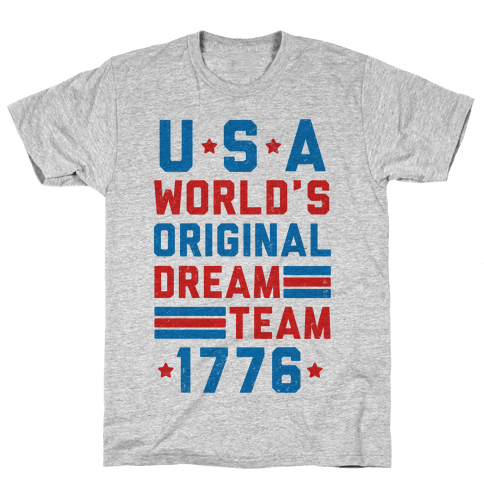 USA World's Original Dream Team 1776 (Patriotic T-Shirt) Mens T-Shirt
