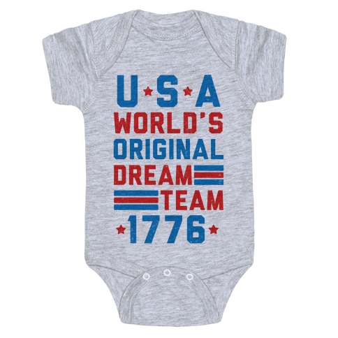 USA World's Original Dream Team 1776 (Patriotic T-Shirt) Baby Onesy