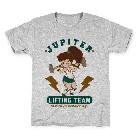 Jupiter Lifting Team Thunder Thighs are Wonder Thighs Kids T-Shirt