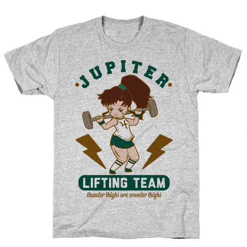 Jupiter Lifting Team Thunder Thighs are Wonder Thighs Mens T-Shirt