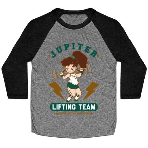 Jupiter Lifting Team Thunder Thighs are Wonder Thighs Baseball Tee