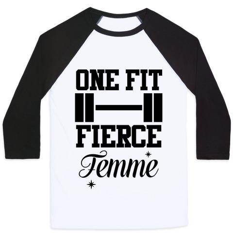 One Fit Fierce Femme Baseball Tee