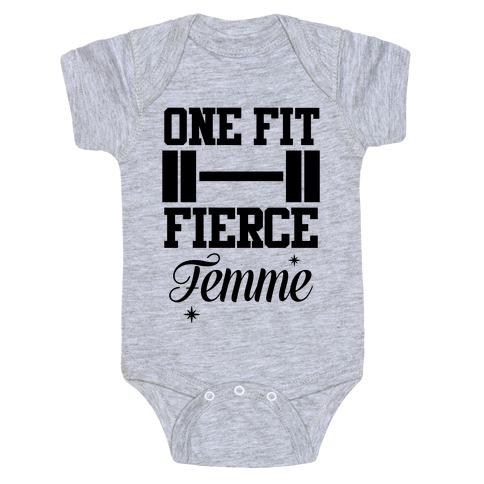 One Fit Fierce Femme Baby Onesy