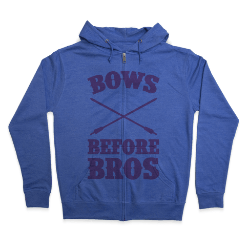 Bows Before Bros Zip Hoodie