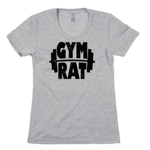 Gym Rat Crop Top Womens T-Shirt