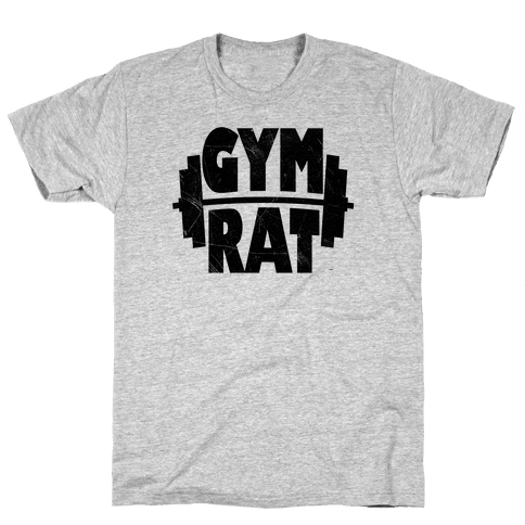 Gym Rat Crop Top Mens T-Shirt