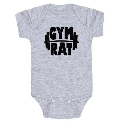 Gym Rat Crop Top Baby Onesy