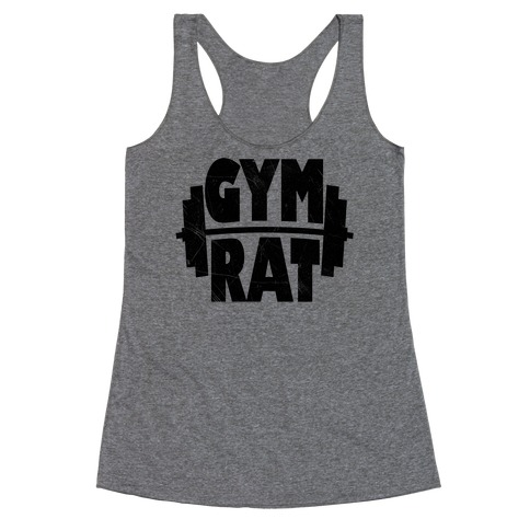 Gym Rat Crop Top Racerback Tank Top