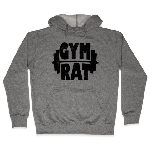 Gym Rat Crop Top Hooded Sweatshirt