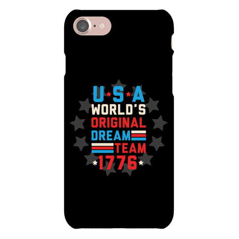 USA World's Original Dream Team 1776 Phone Case