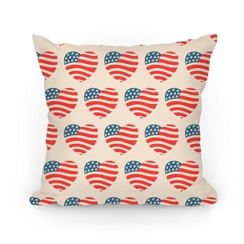 American Heart Pattern Pillow