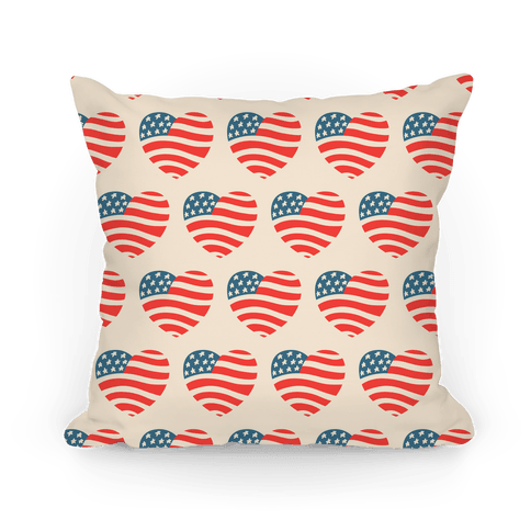 American Heart Pattern Pillow