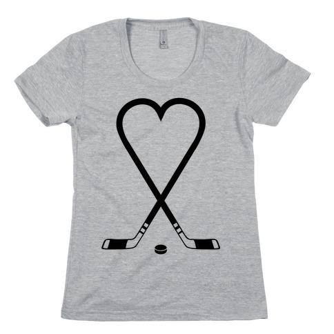 Hockey Love Womens T-Shirt