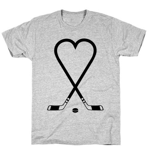 Hockey Love Mens/Unisex T-Shirt