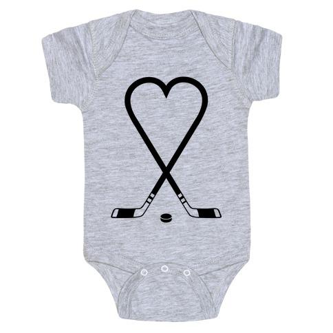 Hockey Love Baby Onesy