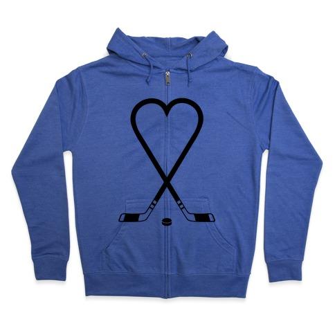 Hockey Love Zip Hoodie