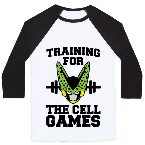 Training for the Cell Games Baseball Tee