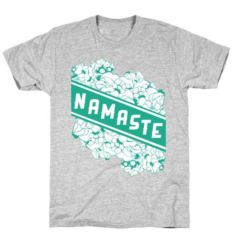 Namaste Banner Mens/Unisex T-Shirt