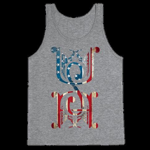 USA (Patriotic Raglan) Tank Top