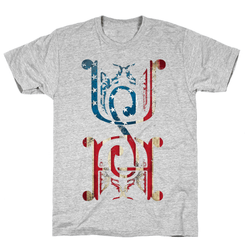 USA (Patriotic Raglan) Mens T-Shirt