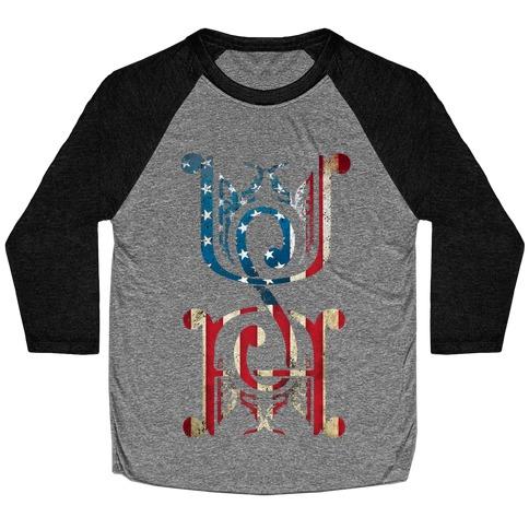 USA (Patriotic Raglan) Baseball Tee