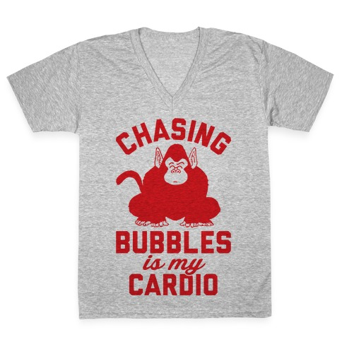 Chasing Bubbles Is My Cardio V-Neck Tee Shirt