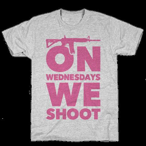 On Wednesdays We Shoot Mens T-Shirt
