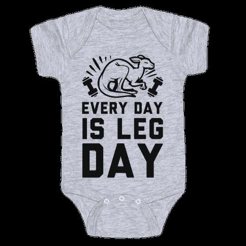 Every Day is Leg Day (Kangaroo) Baby Onesy