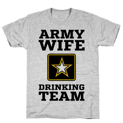 Army Wife Drinking Team (Army Baseball Tee) Mens T-Shirt