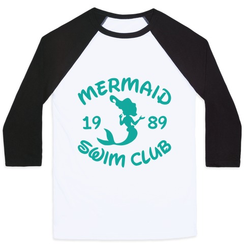 Mermaid Swim Club Baseball Tee