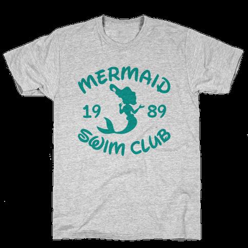 Mermaid Swim Club Mens T-Shirt