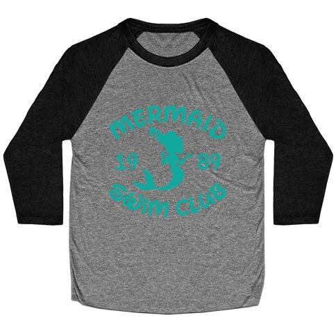 Mermaid Swim Club Baseball Tee